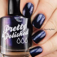 Pretty & Polished Her Majesty Royal Purple + Brisky Business swatches + review
