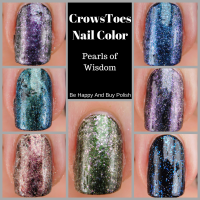 CrowsToes Nail Color Pearls of Wisdom nail polish collection swatches + review