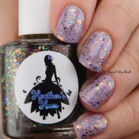 Scofflaw Nail Varnish Dust Bunny + Heather's Hues Killer Costume Party layered manicure