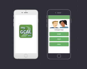 My GCAL App, chat, text, call
