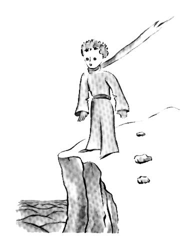 تصویری از شهریار کوچولو بر روی زمین