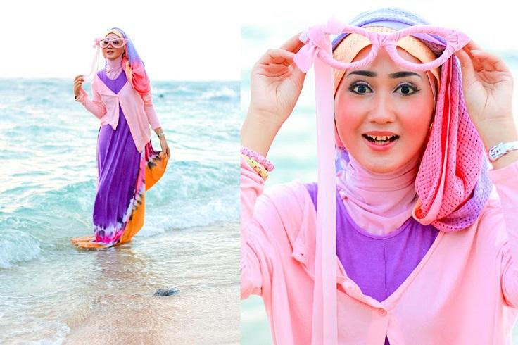Fashionable Dengan Hijab Saat Di Pantai Blog Behijab