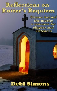 Cover of Rutter's Requiem, showing a tiny chapel lit from within