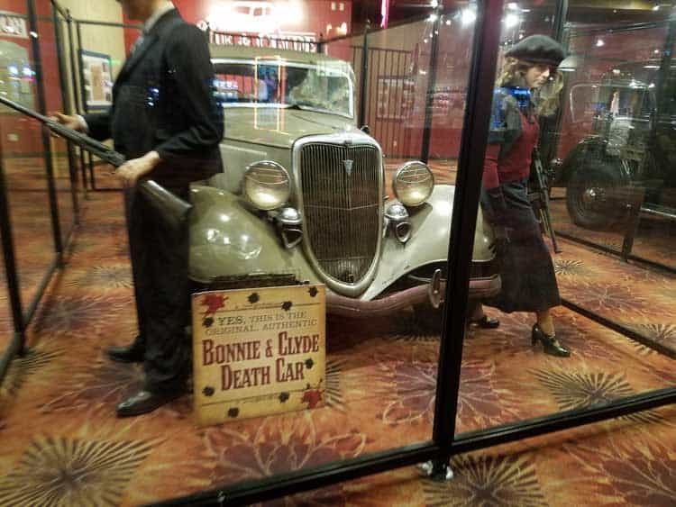 big trip 13 at whiskey pete casino to see bonnie and clyde's death car