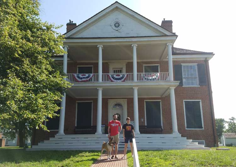 big trip 13 stops by Grouseland home of president william henry harrison in vincennes, IN