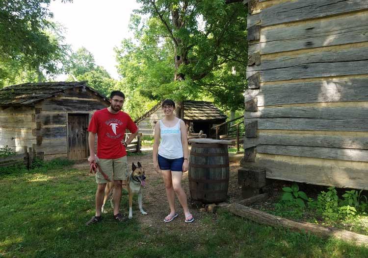 big trip 13 at the Lincoln boyhood home replica farm
