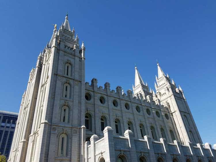 big trip 13 views the mormon temple in salt lake city ut