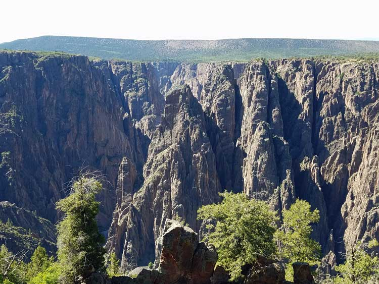 big trip 13 overlooks the black canyon of the gunnison in co