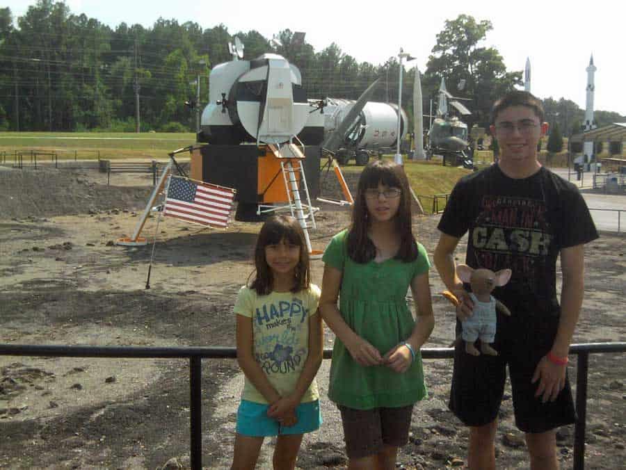 travel mascot at huntsville rocket center