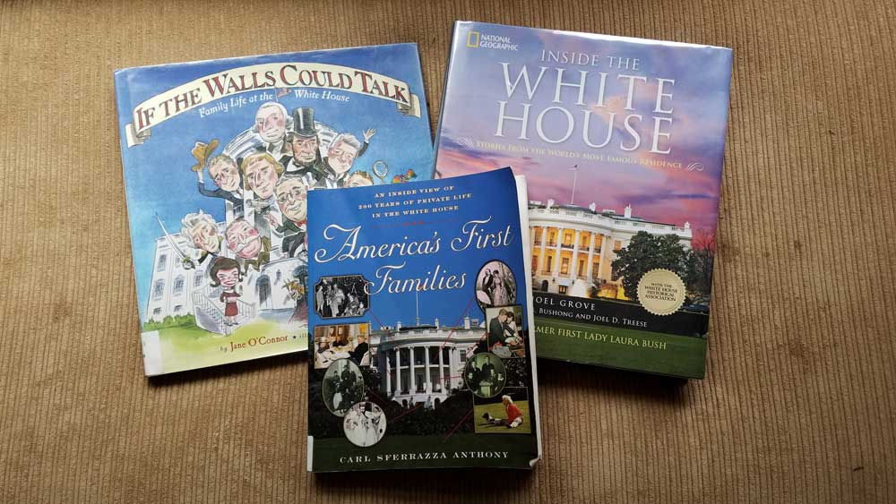 A few books about life in the White House. Not pictured is The Residence which I read on my kindle.