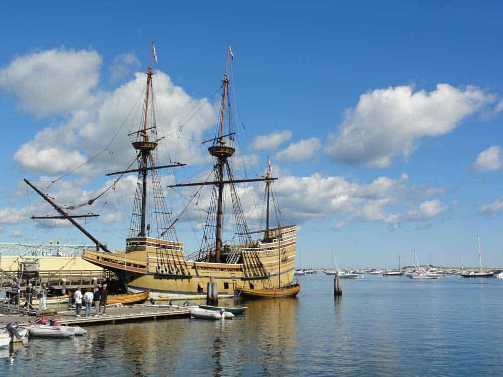 Mayflower 2 in Plymouth Harbor