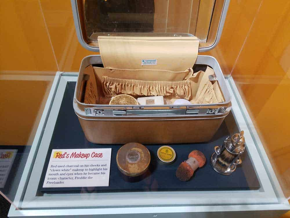 red skelton makeup case at the red skelton museum of american comedy