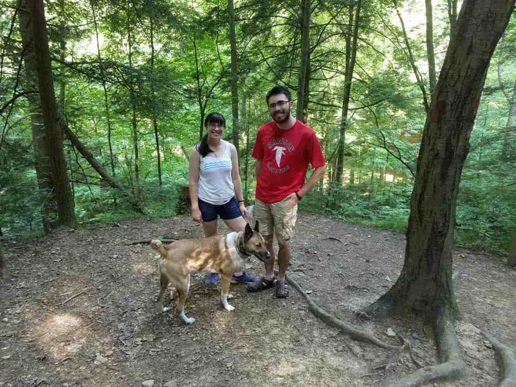 on the trail to Ash Cave at Hocking Hills State Park in southern Ohio