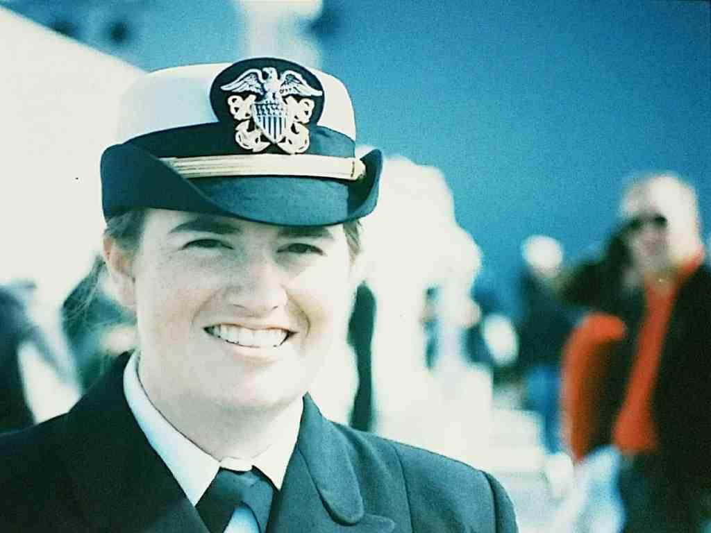 young naval lieutenant junior grade in dress blues