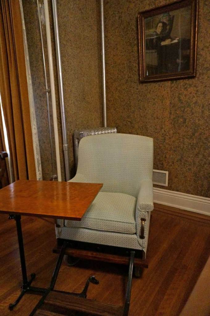 Maggie Walker National Historic Site - Maggie had her favorite chair converted into a wheelchair with a writing desk.