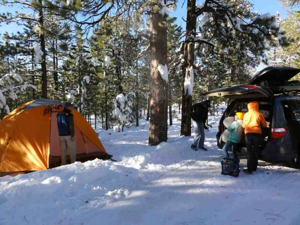 snow camping in bryce canyon national park