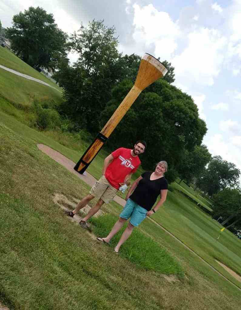 Casey, Illinois is a small town of big things! This town is home to 8 different world's largest items and worth a visit. Fore! Be sure to stop by the golf course to see the worlds largest golf tee.