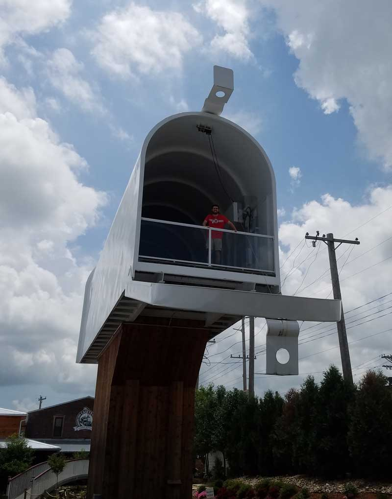 Casey, Illinois is a small town of big things! This town is home to 8 different world's largest items and worth a visit. Send a letter from this functioning worlds largest mailbox and get the special cancellation stamp!