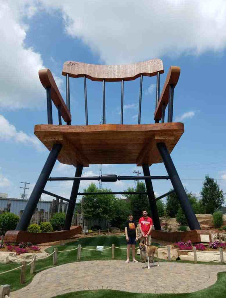 Casey, Illinois is a small town of big things! This town is home to 8 different world's largest items and worth a visit. This world's largest rocking chair can hold a giant without any trouble at all.
