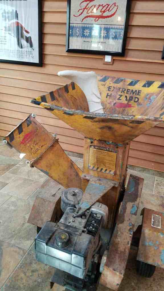 woodchipper prop from the movie Fargo