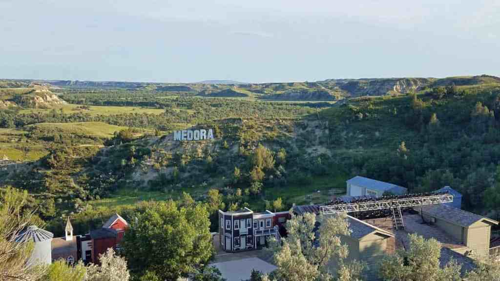 View of Medora Musical stage and surrounding landscape