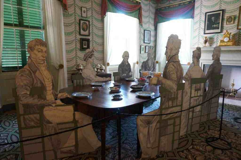 Dining room at Montpelier, home of President James Madison