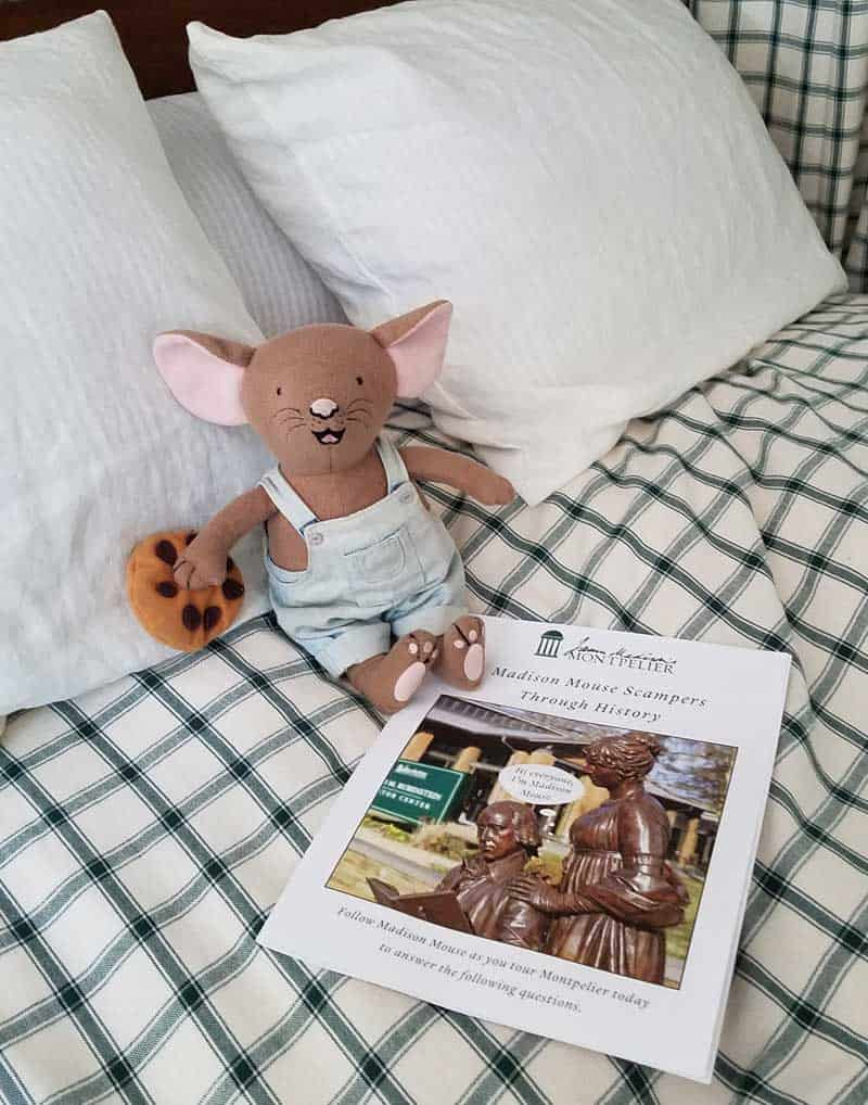 Madison Mouse booklet is perfect for kids (or adults!) to look for fun details throughout the tour of the house.