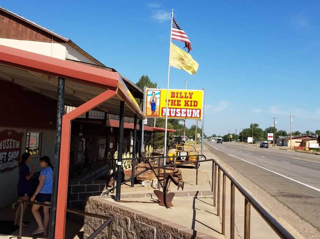 exterior of Billy the Kid museum in Fort Sumner New Mexico