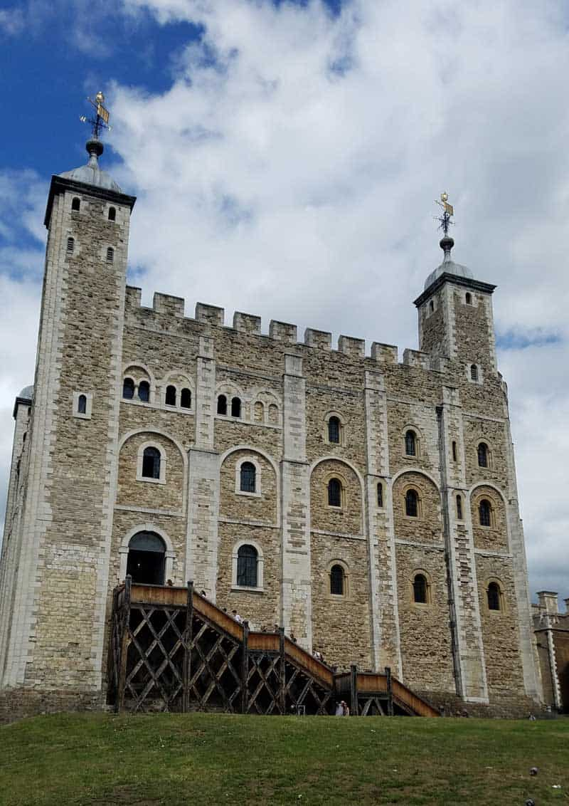The White Tower stands at the center of the grounds at the Tower of London