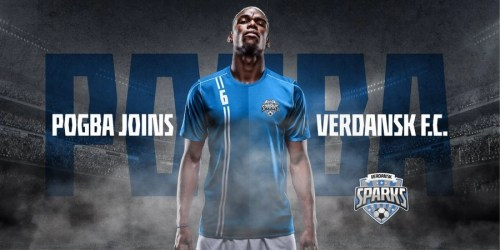 Paul Pogba announced on social he was signing for Verdansk FC.