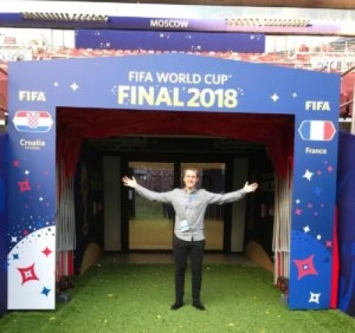 Steve at the World Cup Final