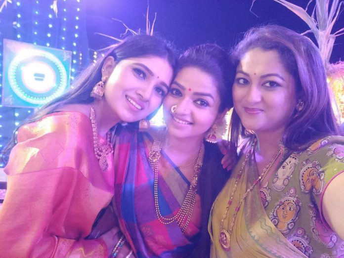 Rekha krishnappa along with vani bhojan