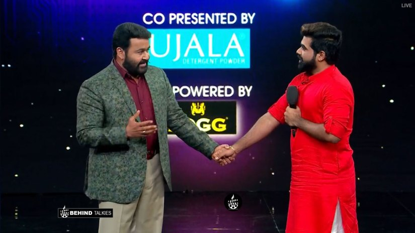 Deepan Murali With Mohan lal in Bigg Boss