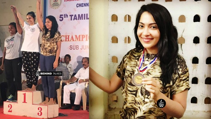 VJ Ramya won Bronze in Weight-lifting