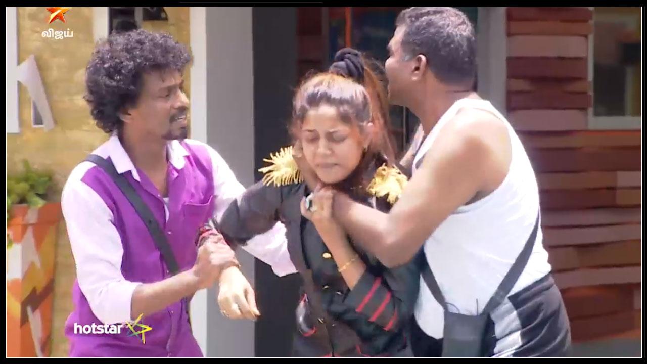 Bigg Boss Tamil : Sendrayan Pushed Aishwarya Into Swimming