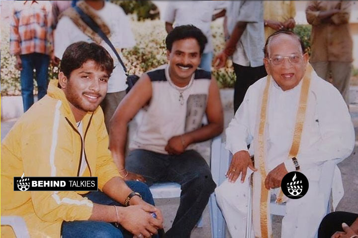 Allu Arju with his GrandFather