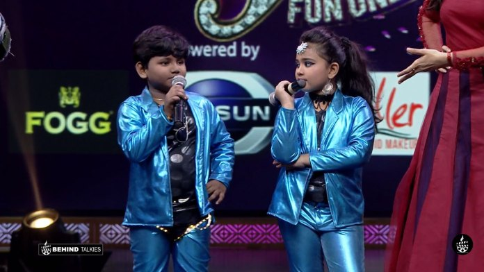Jatti Jaganathan and Uthra in Jodi Fun Unlimited