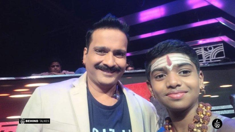 Srinivas with SPB Charan in Super Singer Set