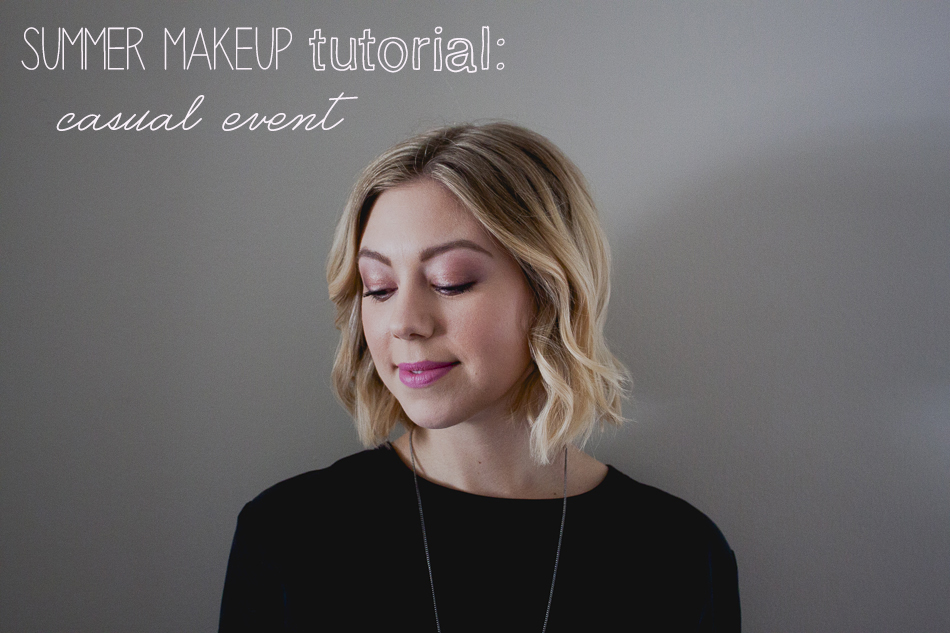 Summer makeup tutorial casual event
