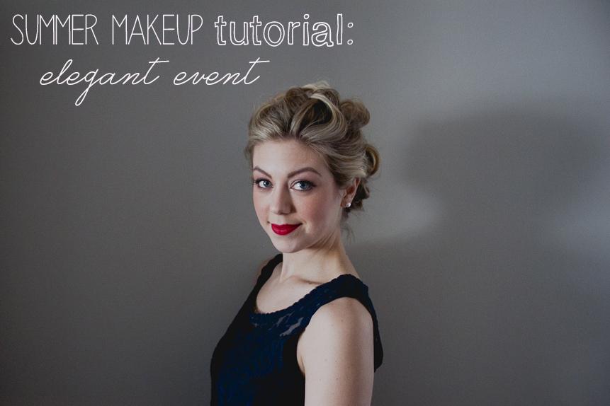summer makeup tutoriak elegant event