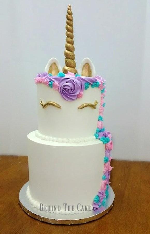 Behind the cake- Unicorn cake, how to make a unicorn cake