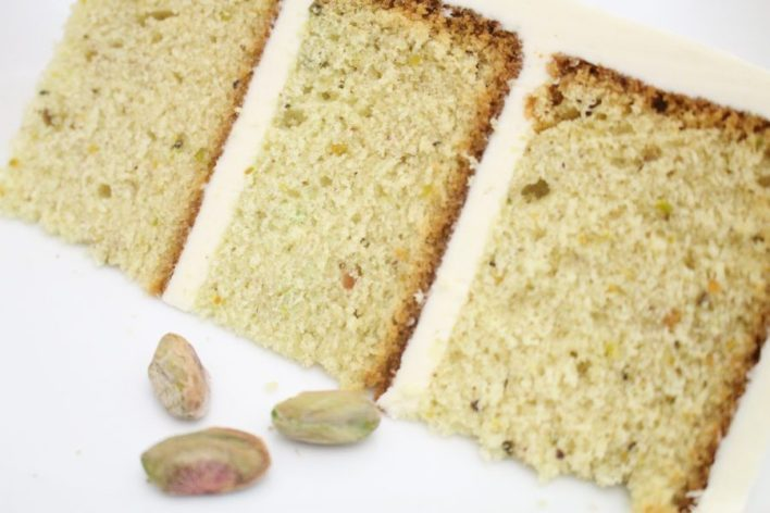 ehind the Cake~ Pistachio cake recipe from scratch