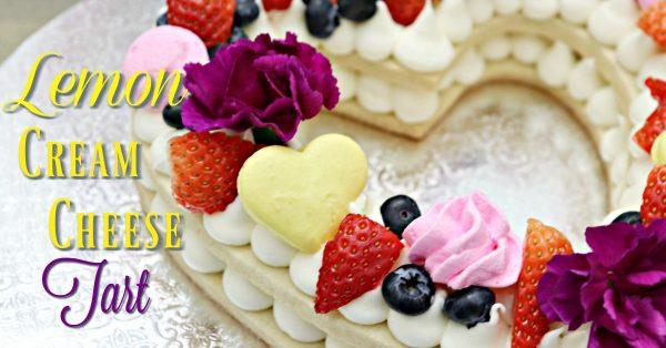 Behind the cake - Cream tart Lemon cream cheese tart recipe.