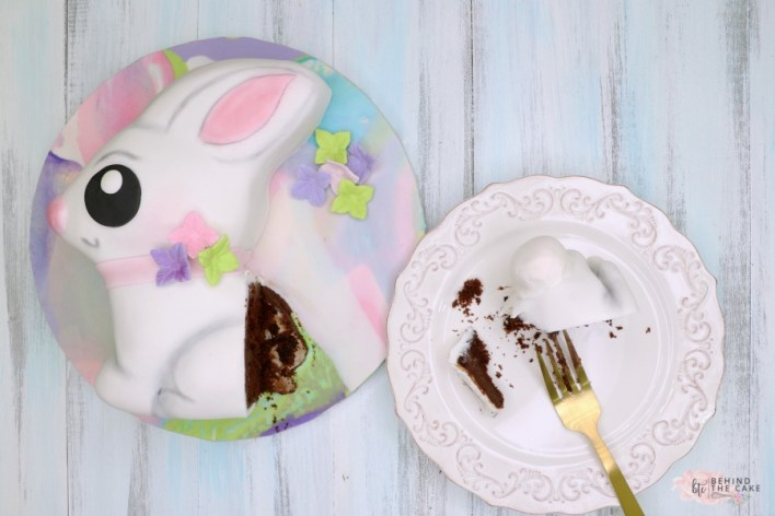 Behind the Cake~ Easter Bunny cake tutorial/ How to make an Easter Bunny cake