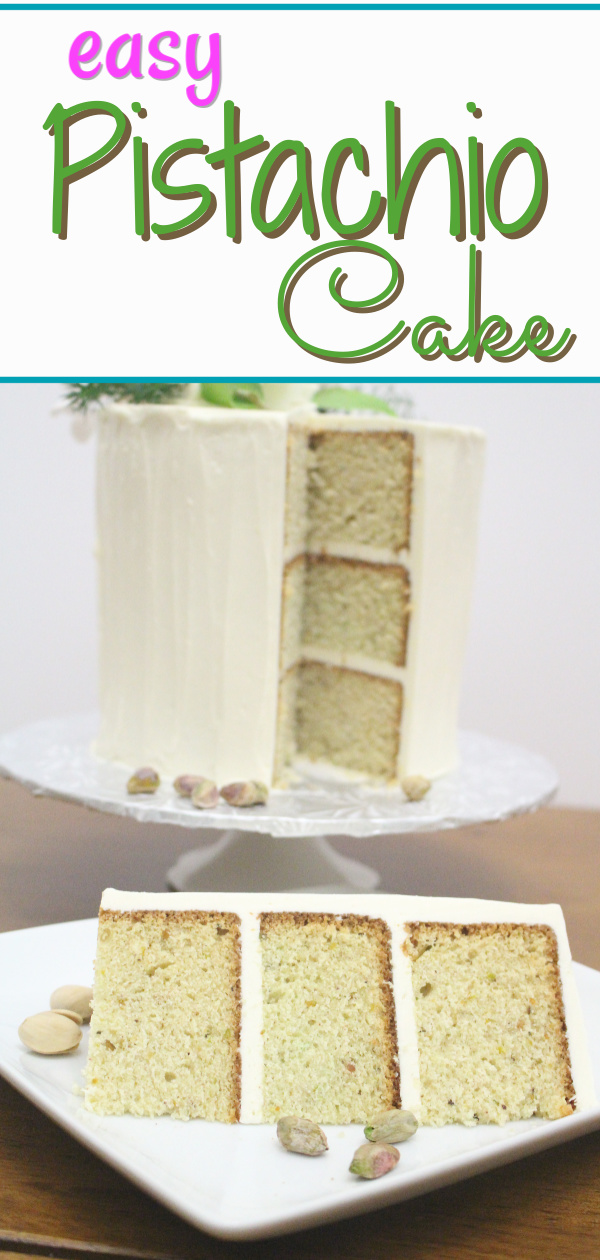 Behind the Cake~ Pistachio cake recipe from scratch