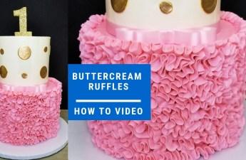 Behind The Cake ~ How to make buttercream ruffles