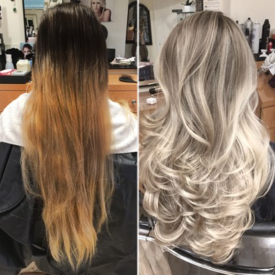 Blonde Balayage Transformation Amp Color Correction Step By Step