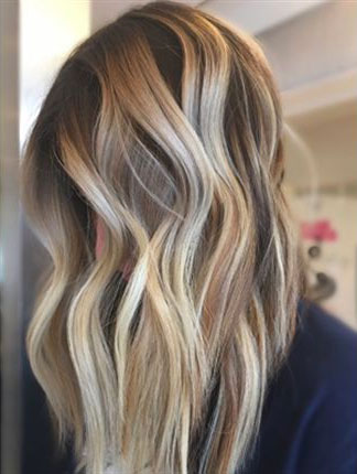 bronde balayage finished look by ivan hernandez