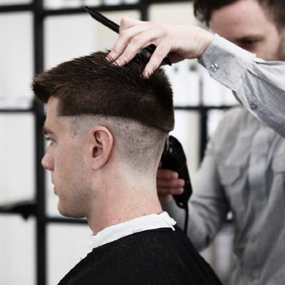 men's clipper/skin fade  behindthechair