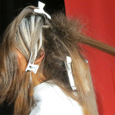 backcomb hair before balayage to create a soft effect
